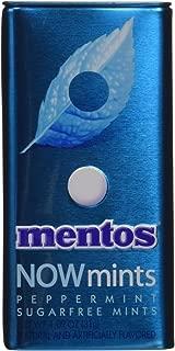 Mentos NOWMint Tin, Peppermint, Non Melting, 1.09 ounces/50 pieces
