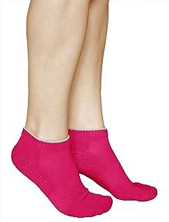 Calcetines Antideslizantes Mujer (3 PARES) Suela Goma Deportivos para Yoga Pilates ALGODÓN