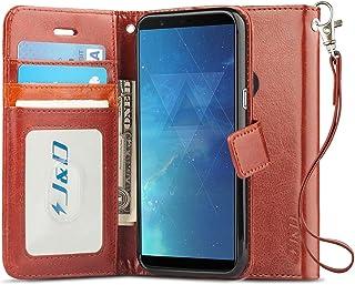 J&D Compatible para OnePlus 5T Funda, [Protección de Cartera] [Soporte Plegable] Funda Pesada Resistentes Billetera para OnePlus 5T Funda Cuero - Marrón