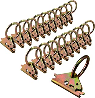 Eapele 20PCS Steel E-Track O Ring Tie-Down Anchors for E-Track TieDown System, Secure Cargo in Enclosed/Flatbed Trailers, Trucks (ETrack Rails Not Included)