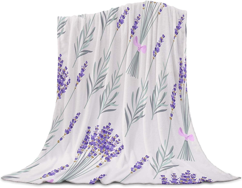 LEO BON Soft Warmer 100% quality warranty! Throw Blankets for Purp All Season Max 48% OFF Farmhouse
