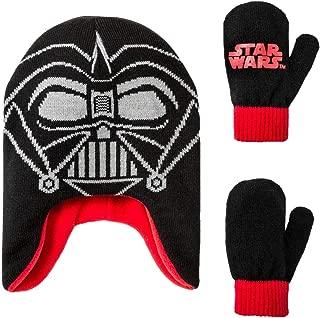 Toddler Boys' Star Wars Darth Vader Beanie and Mitten Set - Black One Size