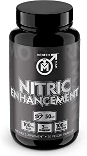 Nitric Oxide Enhancement by Modern Man – Pump Enhancing Alpha Male Booster for Men - Yohimbine HCL, Maca Root | Increase S...