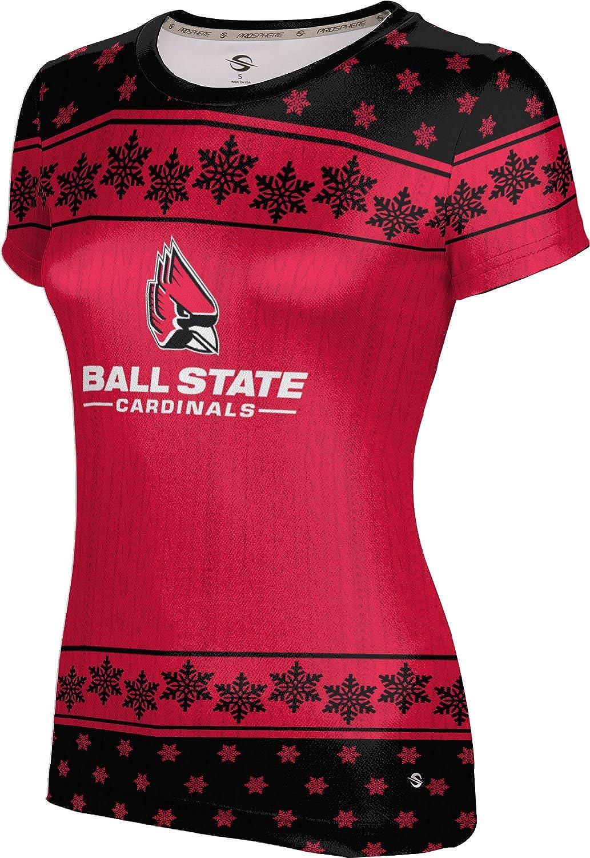 Ball State University Ugly Holiday Girls' Performance T-Shirt (Snowflake)