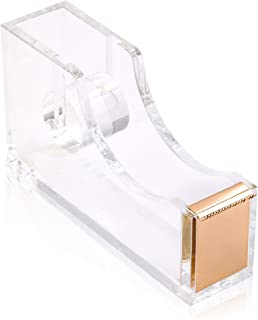 Contemporary Ultra Clear Acrylic Gold Quality Tape Dispenser Single Hand Dispensing by Sirmedal