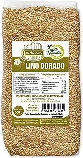 Guillermo Semillas de Lino Dorado Superalimento Linaza 100% Natural 500gr