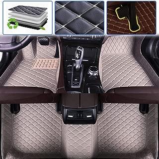 SureKit Custom Car Floor Mats for Nissan Maxima 2004-2008, 2009-2017 Luxury Leather Waterproof Anti-Skid Full Coverage Liner Front & Rear Mat/Set (Gray)