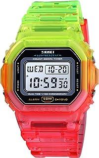 Andoer Women Digital Sports Watch Contrast Color Dual Time Mode Date Week Alarm Clock Backlight 5ATM Waterproof Female Fas...