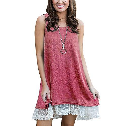 2827de17b85 BELAMOR Women s Short   Long Sleeve A-line Flowy Tunic Tops (US 4-
