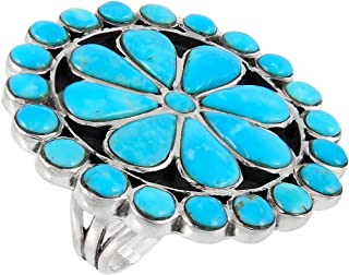 Turquoise Ring Sterling Silver (Choose Style)