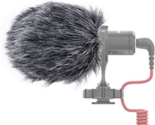 YOUSHARES Microphone Deadcat Windscreen - Outdoor Wind Shield Mic Windshield Muff Fur Custom Fit for Rode VideoMicro and VideoMic Me Me-L