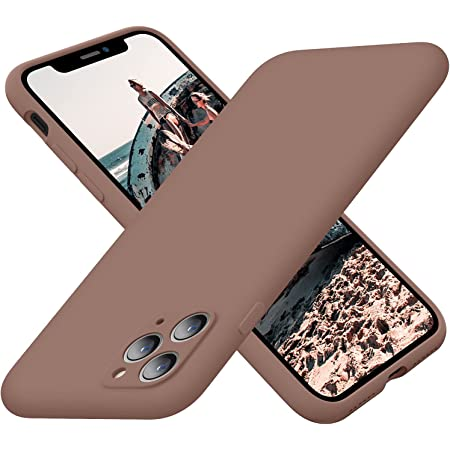 Cordking iPhone 11 Pro Max Case, Silicone Ultra Slim Shockproof Phone Case with Soft Anti-Scratch Microfiber Lining,[Enhanced Camera Protection], 6.5 inch, Light Brown