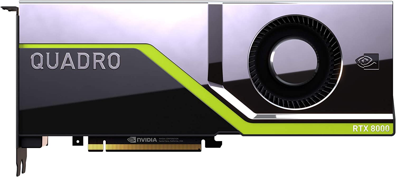 PNY Tarjeta gráfica profesional Quadro RTX 8000 48GB GDDR6 PCI Express 3.0 x16, doble ranura, 4x DisplayPort, soporte 8K, ventilador activo ultra silencioso