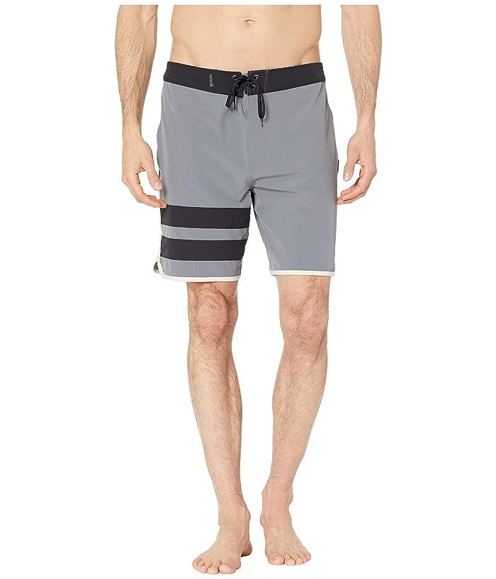 Hurley Phantom Block Party Solid 18 Boardshorts (Cool Grey) Men