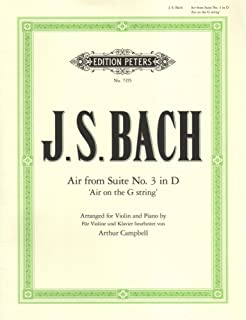 Bach, JS - Air on the G String BWV 1068 for Violin - Arranged by Campbell - Peters Edition