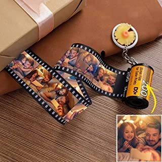 Personalized Keychains with Picture Colorful Custom Camera Film Roll Keychain MultiPhoto Key Rings Photo Reel Album Vintag...