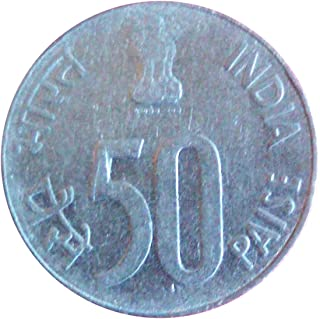 Very Old Indian 1990 Year 50 Paise Coin