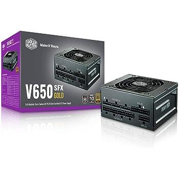 Cooler Master V650 SFX Gold Full Modular, 650W, 80+ Gold Efficiency, ATX Bracket Included, Quiet FDB Fan, Semi-fanless Operation, SFX Form Factor, 10 Year Warranty (MPY-6501-SFHAGV-US)