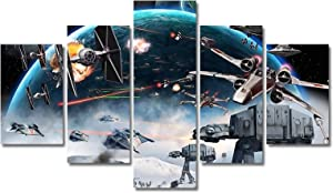 Star Wars Canvas Wall Decor Movie Painting Print Art for Living Room Kids Home Decoration Unframed (No Frame,Only Canvas)