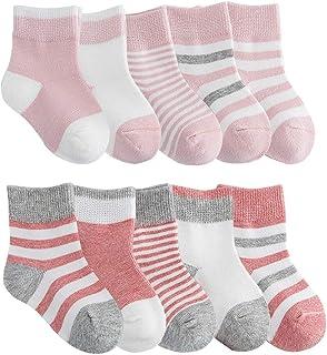 colori assortiti 95/% cotone Laake 12 paia di calzini da ragazza