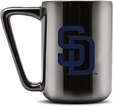 مج قهوة سيراميك مطبوع عليه Duck House MLB SAN DIEGO PADRES - أسود معدني، 473 مل