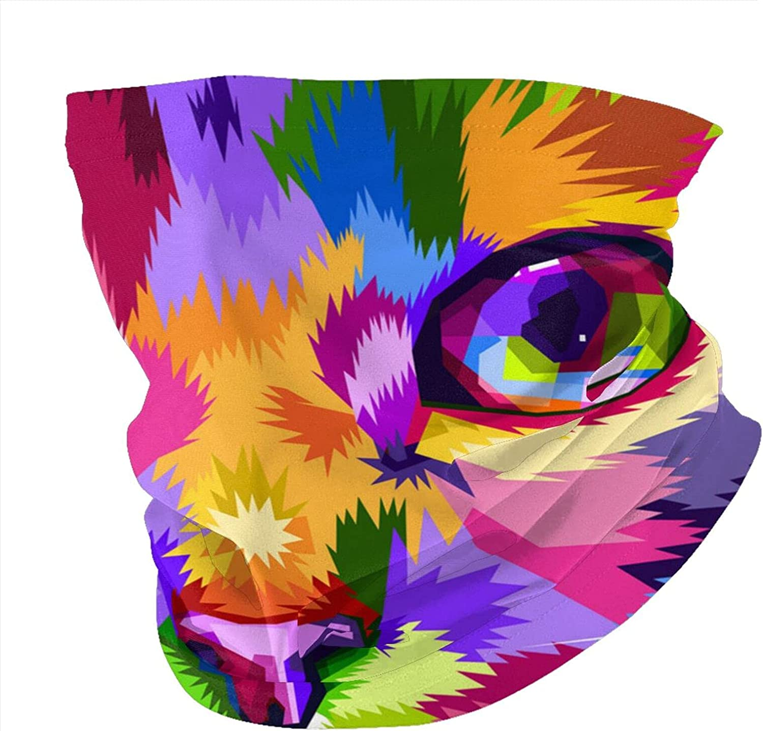 Variety Head Scarf,Cat Face Close To Colorful EyesVariety Headscarves Men And Women Multi-Function Headscarves.