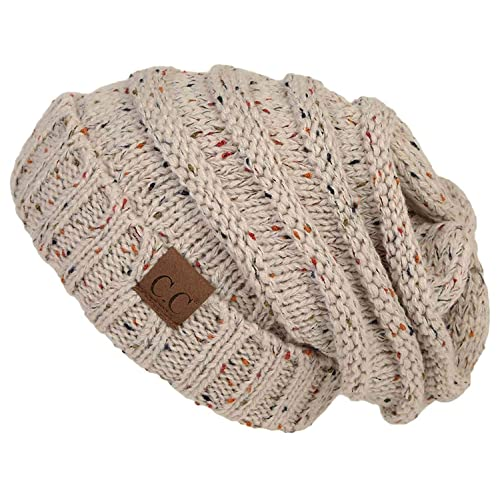 0da9053a2a9 FunkyJunque Trendy Warm Oversized Chunky Soft Oversized Cable Knit Slouchy  Beanie