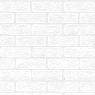 TEXTURED VINYL PAINTABLE WHITE BRICK WALL EFFECT WALLPAPER 2040-42 AS CREATION