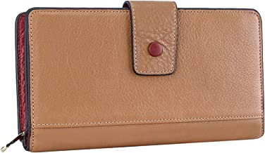 Itslife Leather Wallets for Women Long Fashion Checkered Zip Around Clutch Wallet Ladies Phone Purse