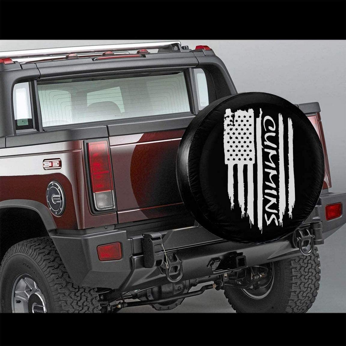 WENQING American Flag Mason Masonic Spare Tire Cover Dustproof Universal Wheel Tire Covers Protective Car Accessories for Trailer RV SUV Truck Vehicles
