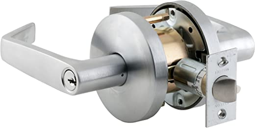 ✅Falcon W511PD D 626 C Keyway W Series Grade 2 Medium Duty Cylindrical Chasis Non-Handed Lock, Entrance Function, Schlage C Keyway, 6 Pin Conventional Cylinder, Keyed Different, Dane Lever, Satin Chrome Finish #Tools & Home Improvement Hardware