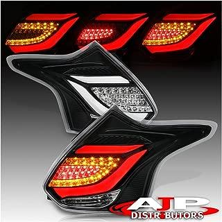 AJP Distributors LED Tail Light Lamp For Ford Focus Hatchback (Black White)
