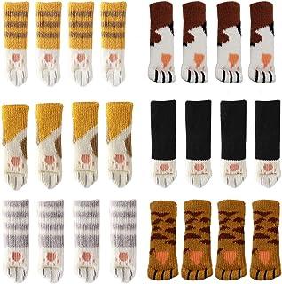 Uniyou antiscivolo per piedi della sedia circonferenza dei piedi da 2,3 cm a 6,7 cm adatti per mobili Set di 16 paia di calzini spessi per sedie e gambe delle sedie lavorati a maglia per mobili