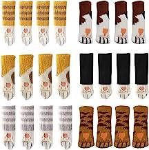 Yolococa 24 STKS Stoel Sokken met Leuke Kat Poten Ontwerp 6 Patronen Meubelen Been Caps Anti Scratch Anti-Noise Stoel Been...