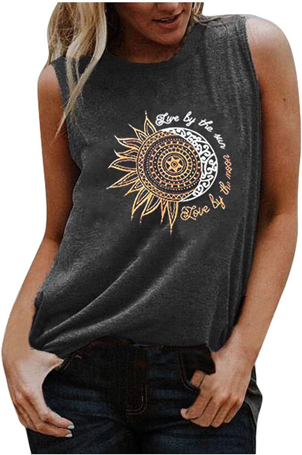 WomensSummerTops,Tank Tops for Women,Womens Workout Tops Casual Summer Shirts Sleeveless Tops Loose Camisoles Tees Shirts