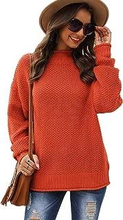 Koitmy Womens Turtleneck Oversized Chunky Knit Pullover Sweater Jumper Tops