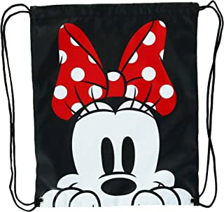 Disney Minnie Mouse Face Drawstring Tote Backpack