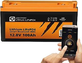 LIONTRON LiFePO4 12V 100Ah Lithium Batterie mit Smart Bluetooth BMS   Versorgungsbatterie für Wohnmobil, Boot, Camping oder Solar
