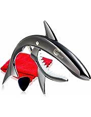 Phoenix ワンタッチ ギターカポタスト【type Shark】お手入れ用ファイバークロス/ピック/メーカー保証書<4点セット>Black(ブラック)