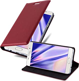 Cadorabo Book Case works with Samsung Galaxy A5 2016 in APPLE RED - with Magnetic Closure, Stand Function and Card Slot - ...
