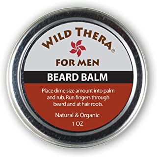 Wild Thera Beard Balm Conditioner. Organic Herbals Extracts, Natural Oils & Butters to tame, soften and style facial hair. Repair hair follicles and eliminate dry/flaky skin. Promote hair growth.