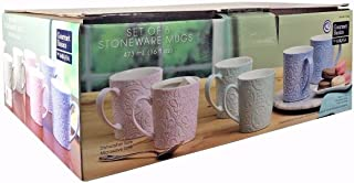 Mikasa Gourmet Basics 6 Stoneware Mugs 16 fl oz Each Dishwasher & Microwave Safe
