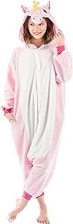 Emolly Fashion Adult Unicorn Animal Onesie Costume Pajamas for Adults and Teens