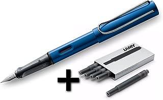 Lamy AL-Star Fountain Pen (28F) Ocean Blue + 5 Black Ink Cartridges