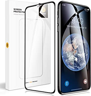 [Humixx] iPhone Xs ガラスフィルム iPhone X フィルム 日本旭硝子製 硬度10H 9Dラウンドエッジ 0.3mm薄さ