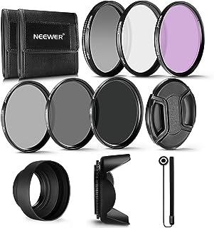 Neewer 49MM Profesional UV CPL FLD Lente Filtro y ND Filtro de Densidad Neutra(ND2. ND4. ND8) Kit de accesorios para Sony Alpha A3000 y NEX Series Cámaras