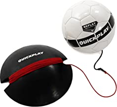 QuickPlay Replay Soccer Training Ball   Adjustable Bungee Elastic Training Ball with Base Weight – The Ultimate Hands Free Soccer Trainer