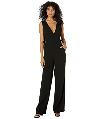 BCBGMAXAZRIA Lace-Up Side Jumpsuit (Black) Women