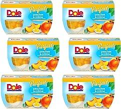 Dole Fruit Bowls, Peaches & Crème Parfait, 4.3oz, 24 cups