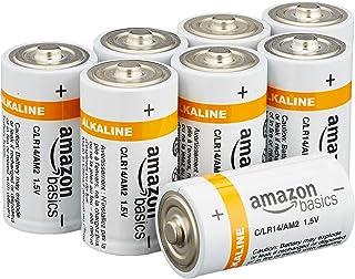 AmazonBasics C Cell 1.5 Volt Everyday Alkaline Batteries - Pack of 24